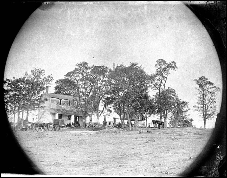 Spotsylvania Court House, vicinity. Beverly House, headquarters of General Gouverneur Warren, 5th Corps, May 20, 1864 (Timothy O'Sullivan/ Library of Congress)