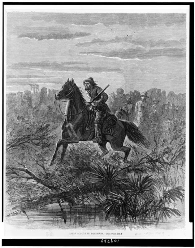Union scouts operating in Louisiana in 1864 (Library of Congress)