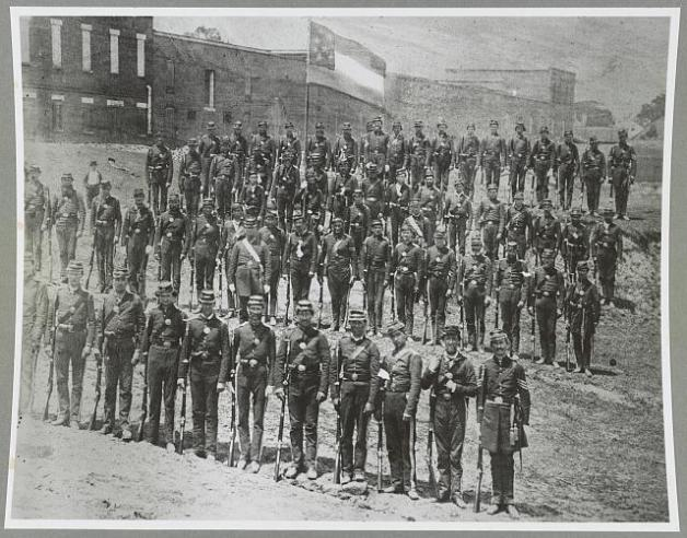 An example of a Georgia Infantry Regiment (the 4th) in 1861 (Library of Congress)