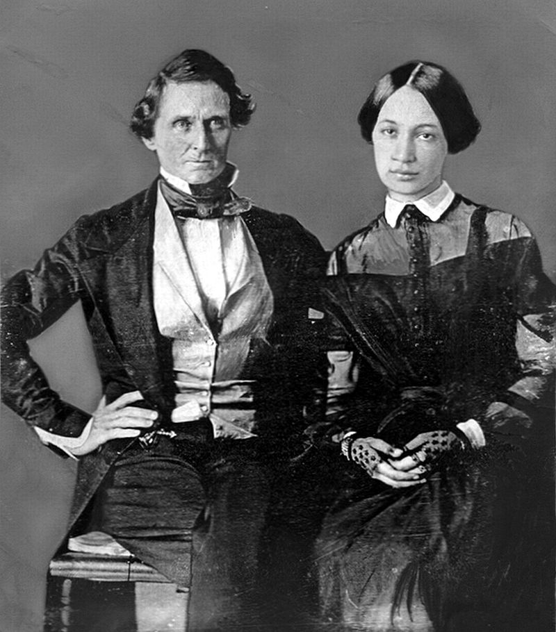 Jefferson and Varina Davis (Wikipedia)