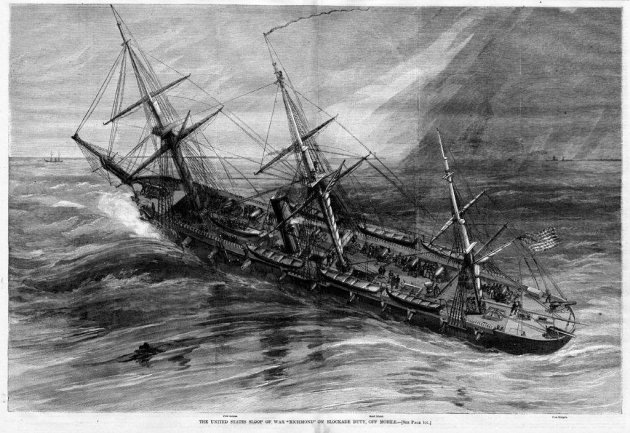 USS Richmond on blockade duty (Harper's Weekly via Naval Historical Center)