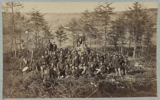 Soldiers of the 170th New York Infantry, Corcoran's Irish Legion during the Civil War (Library of Congress)