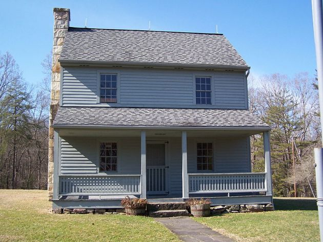 The Patteson House, Carnifex Ferry, near where John Kennedy and the 10th Ohio attacked (Brian M. Powell via Wikipedia)