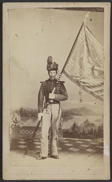 A member of the 1st U.S. Artillery in 1859 (Library of Congress)