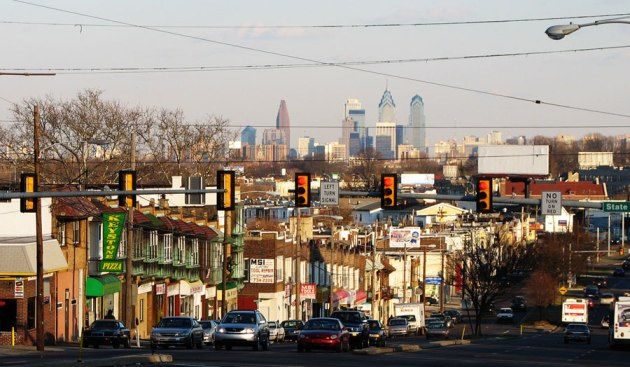Upper Darby with the Philadelphia skyline in the background. Dennis Kelly ran Mills in this area in the 19th century (Photo by Lucius Kwok)