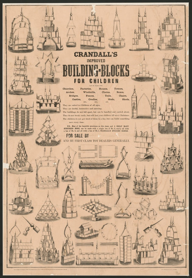 'Something useful and diverting': Crandall's Building Blocks for Children c. 1867 (Library of Congress)
