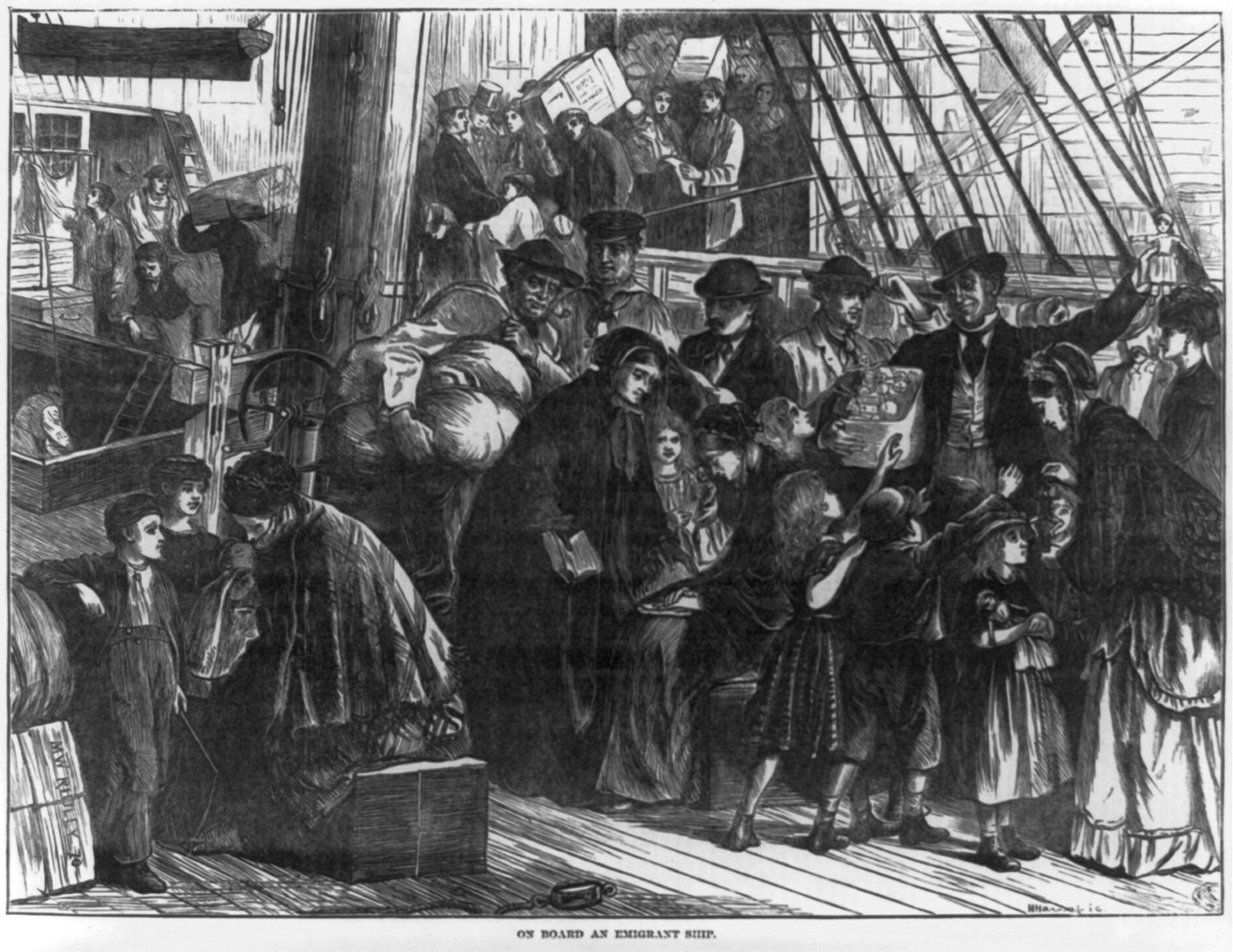 On Board an Emigrant Ship (Library of Congress)