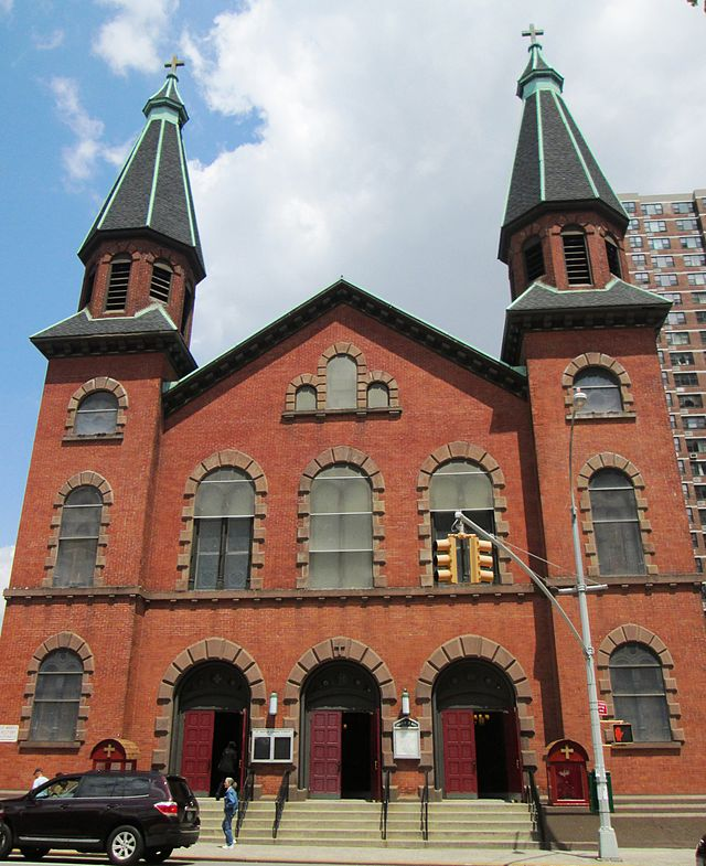 St. Mary's Church, New York, where James Duffy was baptised (Wikipedia)
