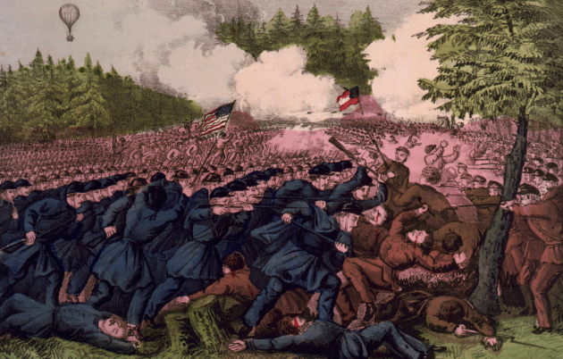 The Battle of Fair Oaks by Currier & Ives (Library of Congress)