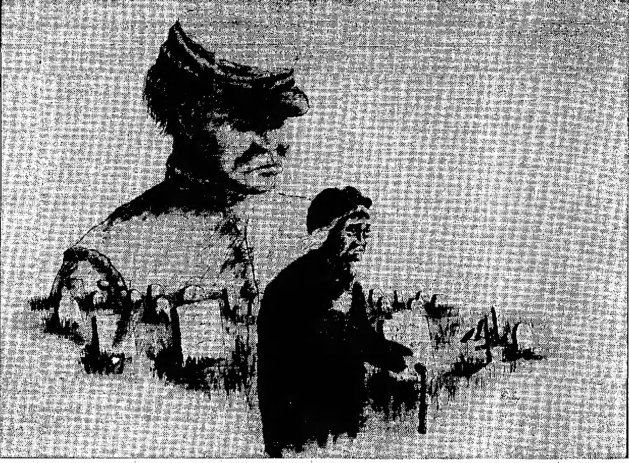 A Sketch of Con Garvin and his Mother Catharine Garvin in the Troy Record of 1965, sketched by artist Robert W. Daley (www.newspapers.com)