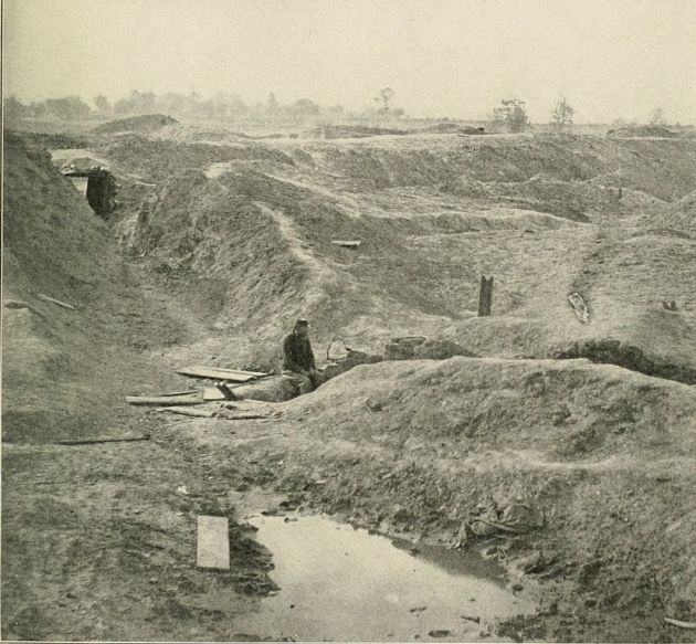 The Crater as it appeared in 1865 (Photographic History of the Civil War)