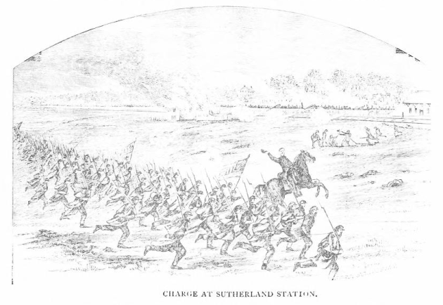 Charge of the regiment at Sutherland Station (Regimental History)