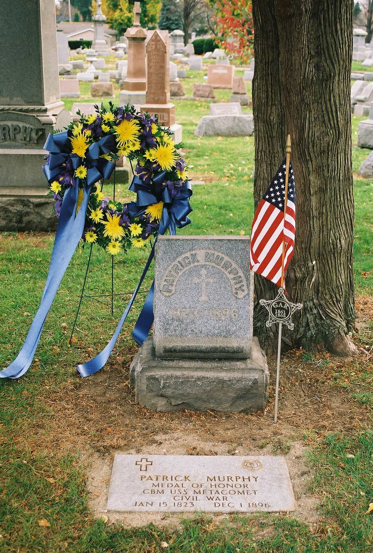 The grave of Patrick Murphy, Medal of Honor Recipient (Erie Maritime Museum)