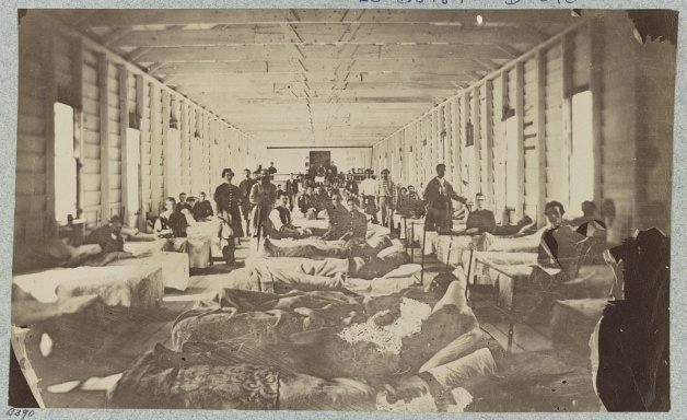 A hospital ward in a convalescent camp near Alexandria (Library of Congress)