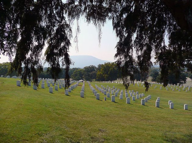 Chattanooga National Cemetery, where William Brophy is buried (Hal Jespersen)