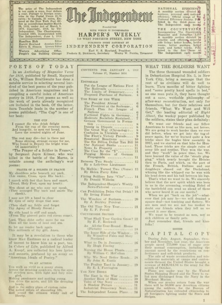 Henry C. Bowen's newspaper 'The Independent', as it appeared in 1919 (Wikipedia)