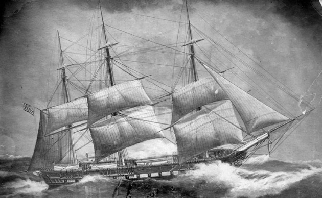 The USS Congress, aboard which James Leahy lost his life (U.S. Naval Historical Center)