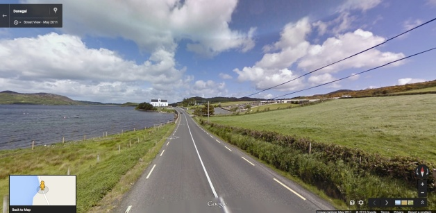 Massmount, Fanad, Co. Donegal, where James McFadden was married (Google)