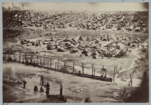 Andersonville as it appeared on 17th August 1864 (Library of Congress)