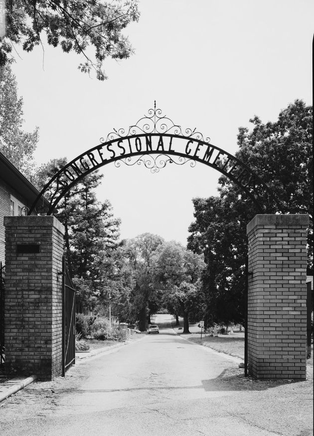 Congressional Cemetery, Washington D.C., where Pete was buried following his death in 1907 (Library of Congress)