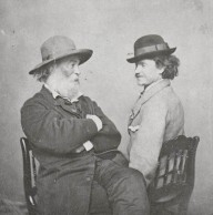 """Walt Whitman and Peter Doyle"" (c. 1869) Source: Ohio Wesleyan University, Bayley Collection. Public Domain."