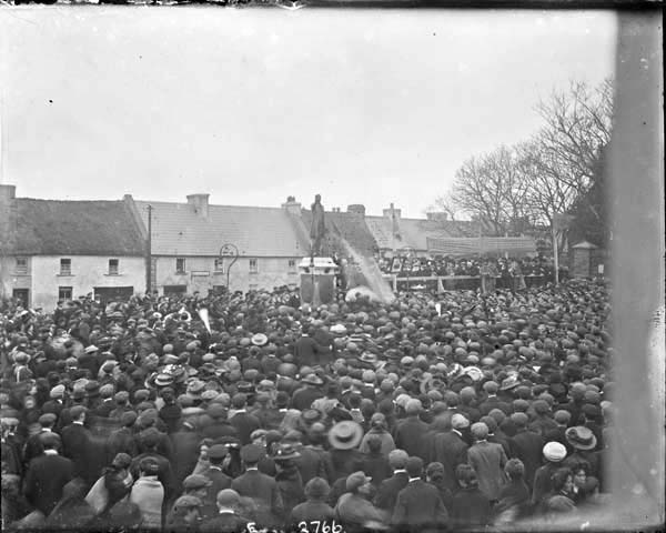 Abbeyfeale as it appeared in 1910, at the unveiling of the Father Casey statue. Maurice O'Donnell may well have been in attendance at this event (National Library of Ireland)