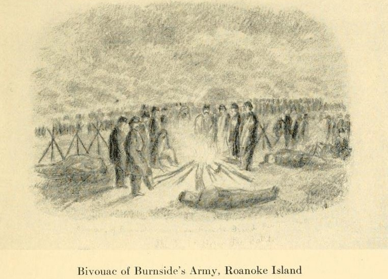 Bivouac of Burnside's Army, Roanoke Island (The Long Roll)