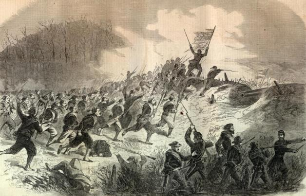 The Charge of Hawkins' Zouaves at Roanoke Island (Harper's Weekly)
