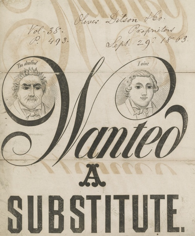 'Wanted A Substitute' A Wartime Sheet Music Cover (Library of Congress)