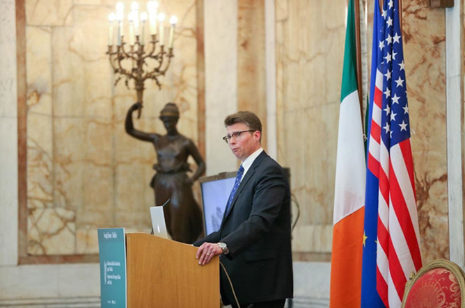 Professor Griffin delivering the Iveagh House Lecture (Department of Foreign Affairs)