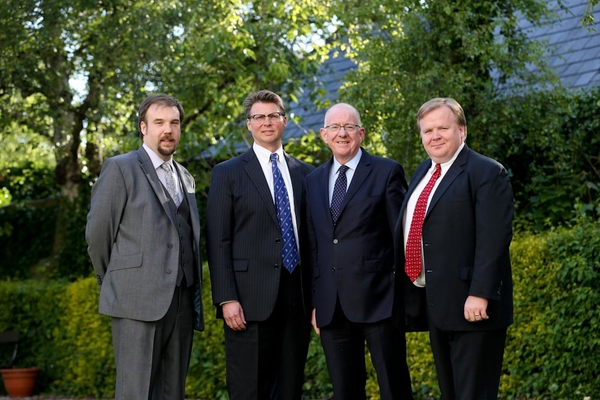 Myself, Professor Griffin, Minister Flanagan & Professor Gleeson at the Iveagh House event (Department of Foreign Affairs)