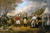 Surrender of General Burgoyne at Saratoga (Wikipedia)