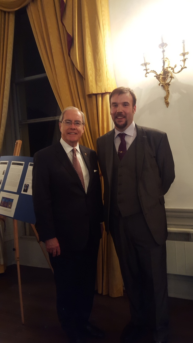 With U.S. Ambassdor to Ireland His Excellency Mr. Kevin O'Malley at the Lucas Lecture