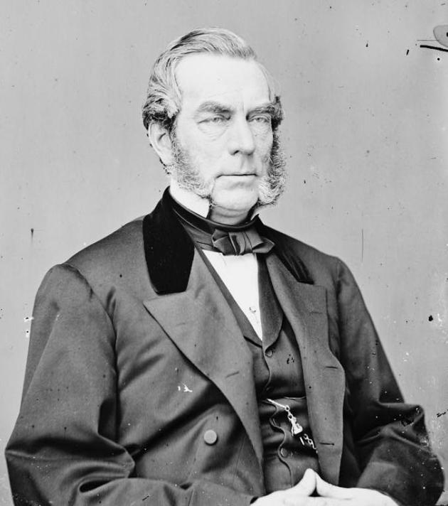 Governor Morgan, who intervened in the orphaned girls case (Library of Congress)