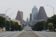 Congress Avenue looking towards the Capitol in Austin, Texas. John Hannon died on this street. (Wikipedia)