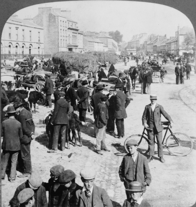 Eyre Square, Galway City in 1903. This would have been an area the Finnertys knew well (Library of Congress)