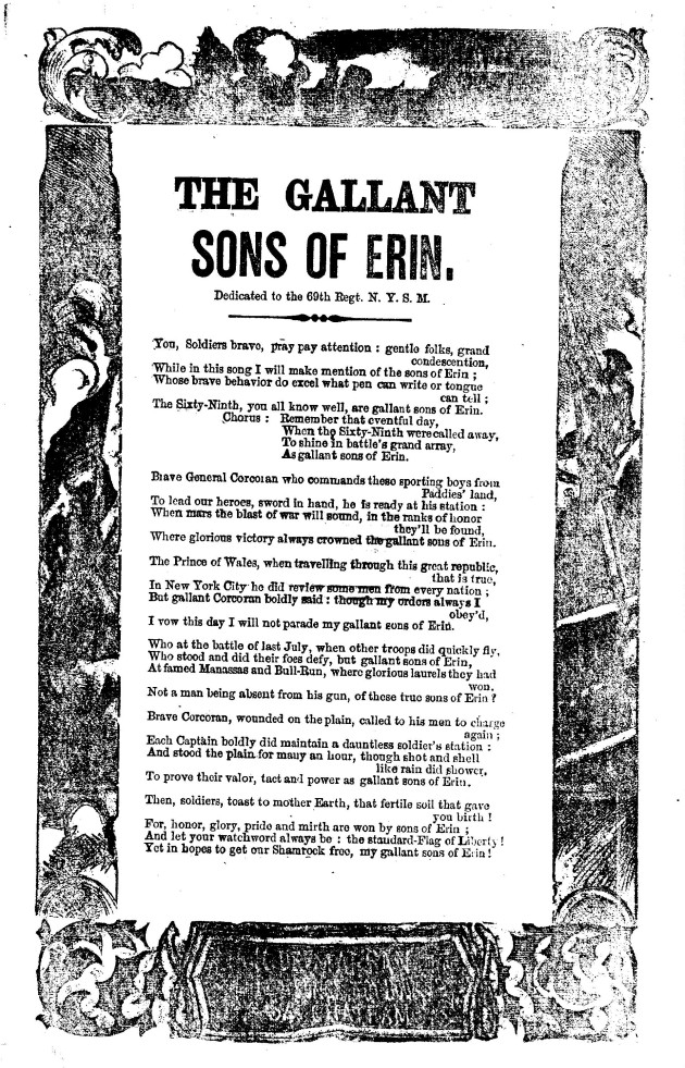 The Gallant Sons of Erin (Library of Congress)