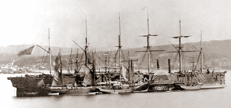 The SS Great Eastern, which brough the Polopticomorama to Ireland (Memorial University Libraries)