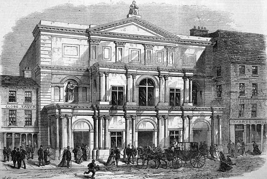 Theatre Royal Cork in 1867 (Illustrated London News)