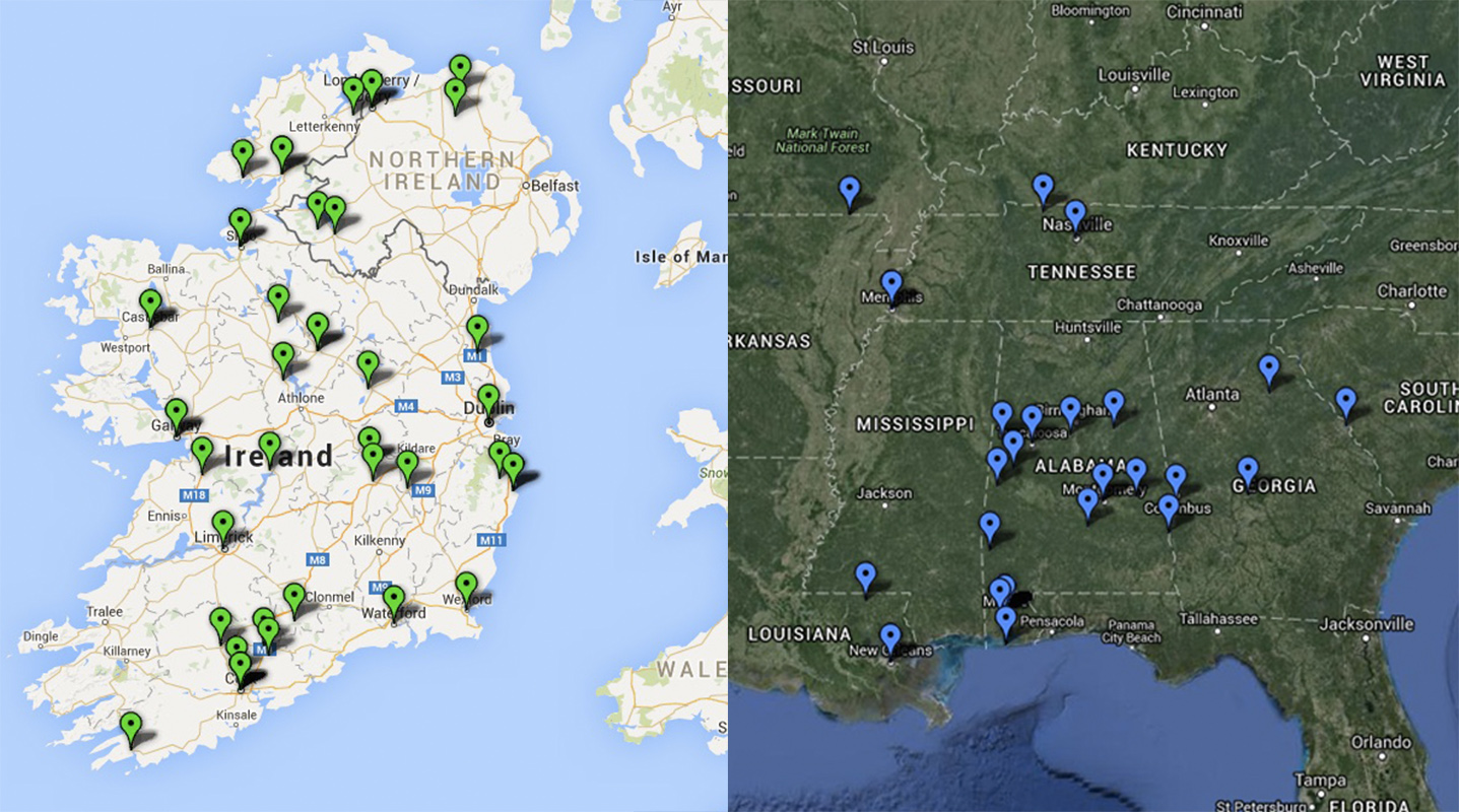 some of the maps produced based on the alabama confederate veteran information birthplaces in ireland