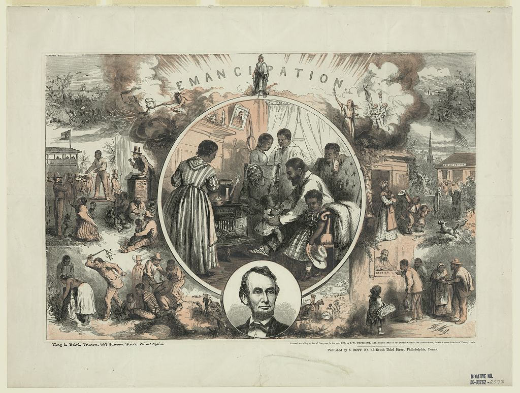 Emancipation, by Thomas Nast, 1865 (Library of Congress)