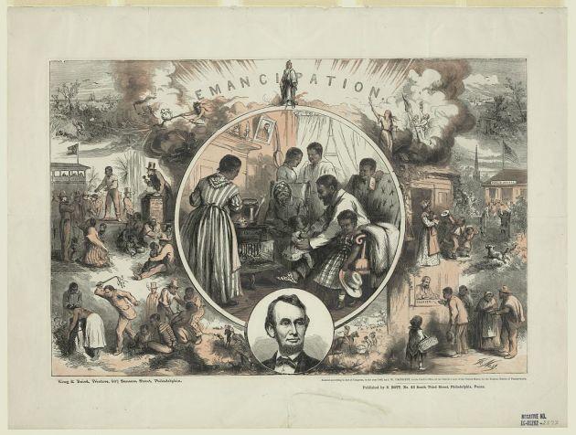 Emancipation, by Thomas Nast, 1865 (Library of Congress)