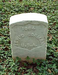 The grave of Edward Gorman from Co. Longford in Stones River National Cemetery (Kimshockey, Find A Grave)