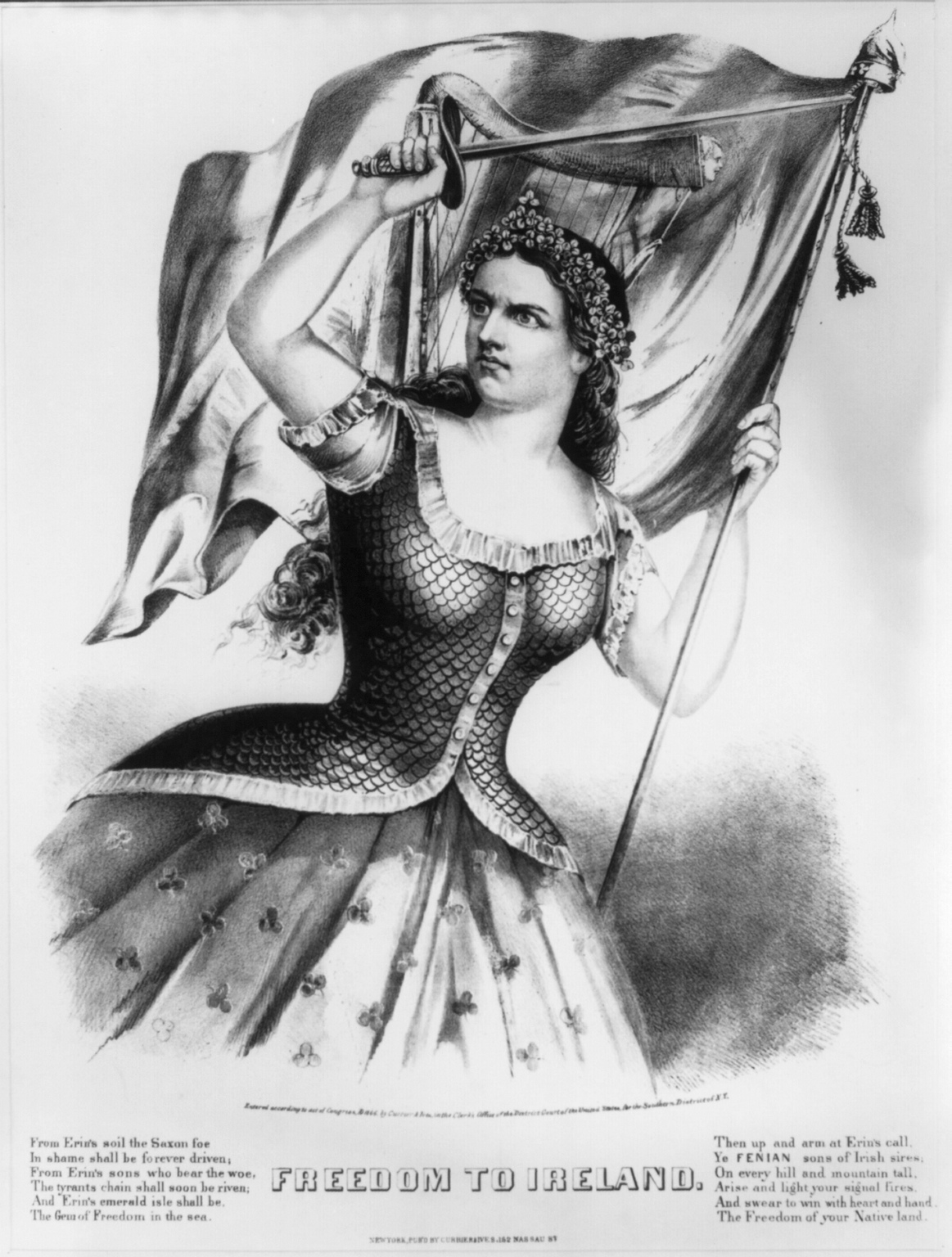 'Freedom to Ireland' by Currier & Ives, 1866 (Library of Congress)