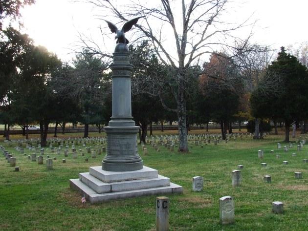 The U.S. Regulars Memorial at Stones River National Cemetery (Damian Shiels)
