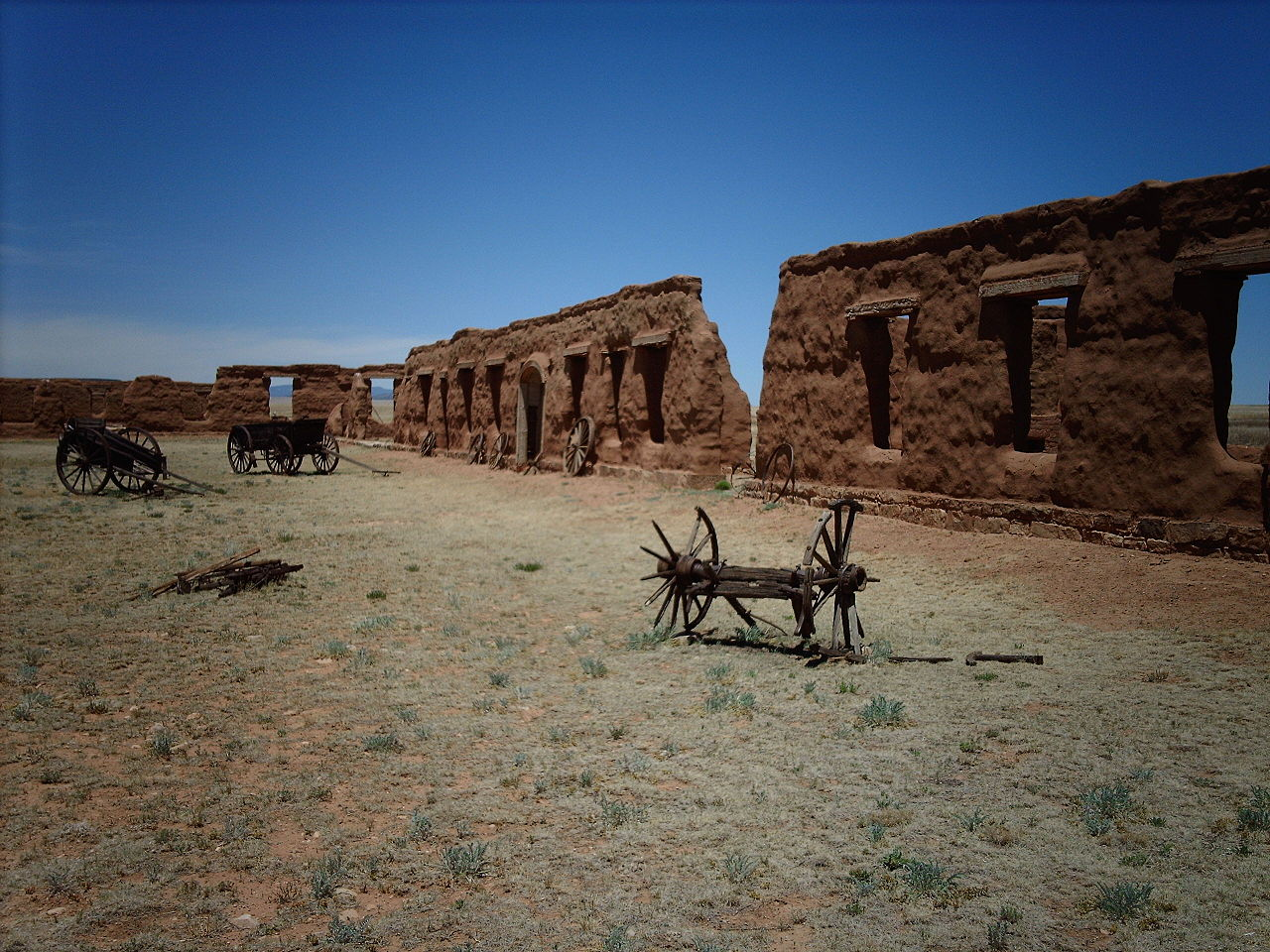 Fort Union National Monument, New Mexico as it appears today (National Park Service via Wikimedia Commons)