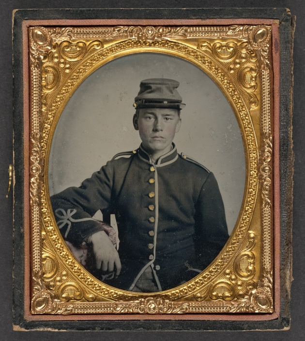 A young soldier dressed in Chausseur uniform, possibly a member of the 65th New York (Library of Congress)