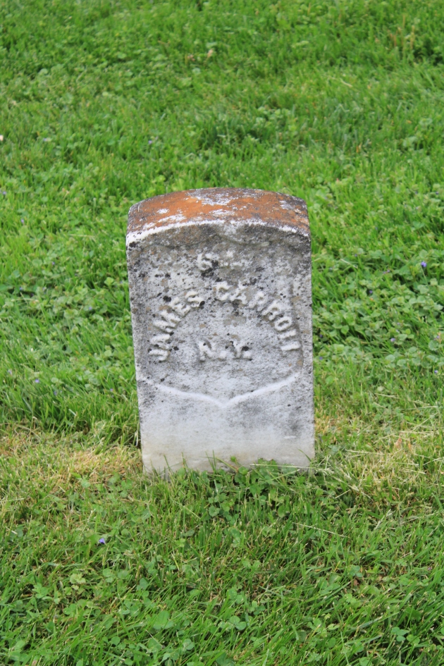 James Carroll, Antietam National Cemetery (Damian Shiels)