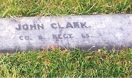 John Clark's memorial in Gettysburg National Cemetery (Photo: Pat Callahan, Find A Grave)