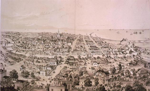 Milwaukee in the 1850s, as the Doughertys would have known it (Library of Congress)